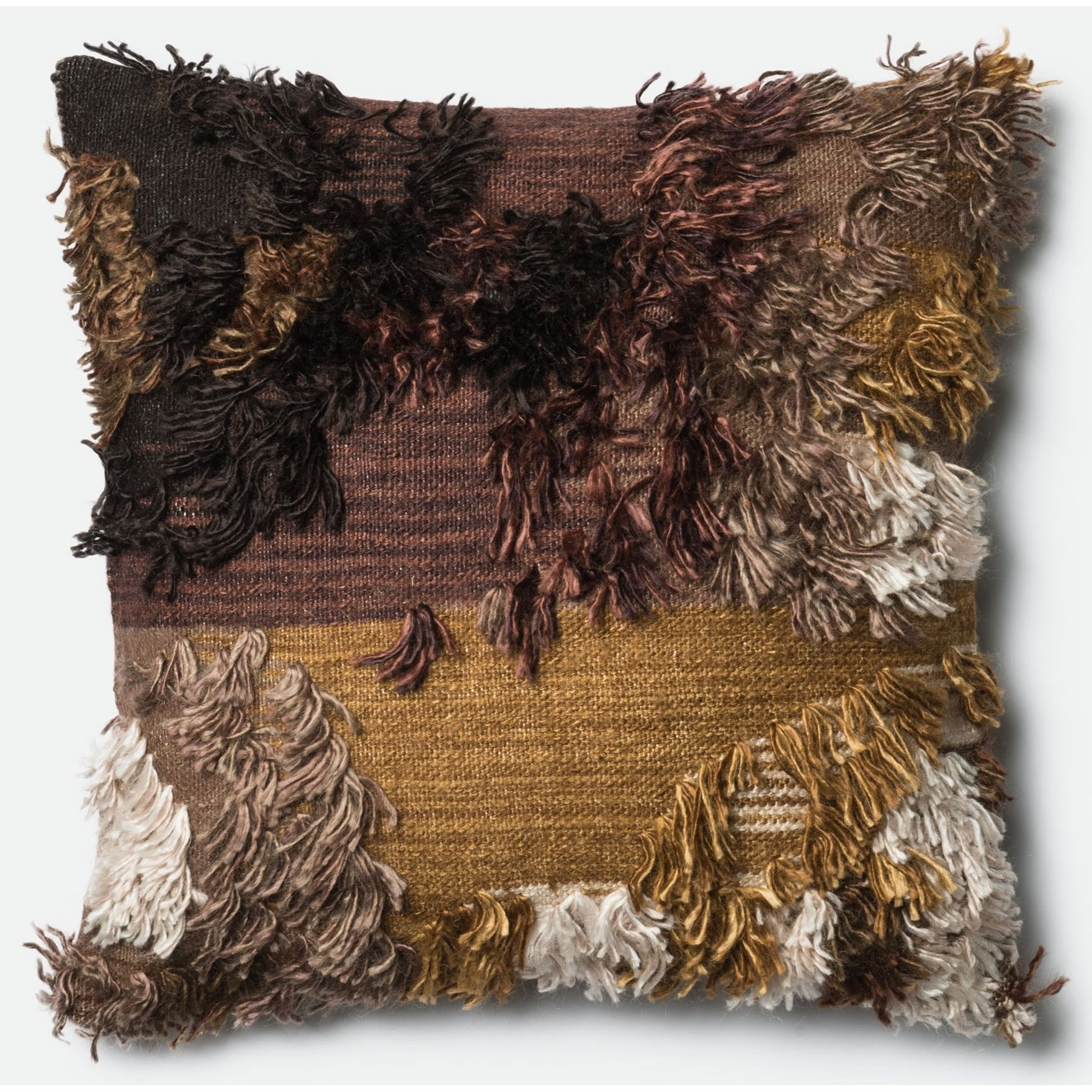 "Shag 22"" X 22"" Down Pillow by Loloi Rugs at Miller Waldrop Furniture and Decor"