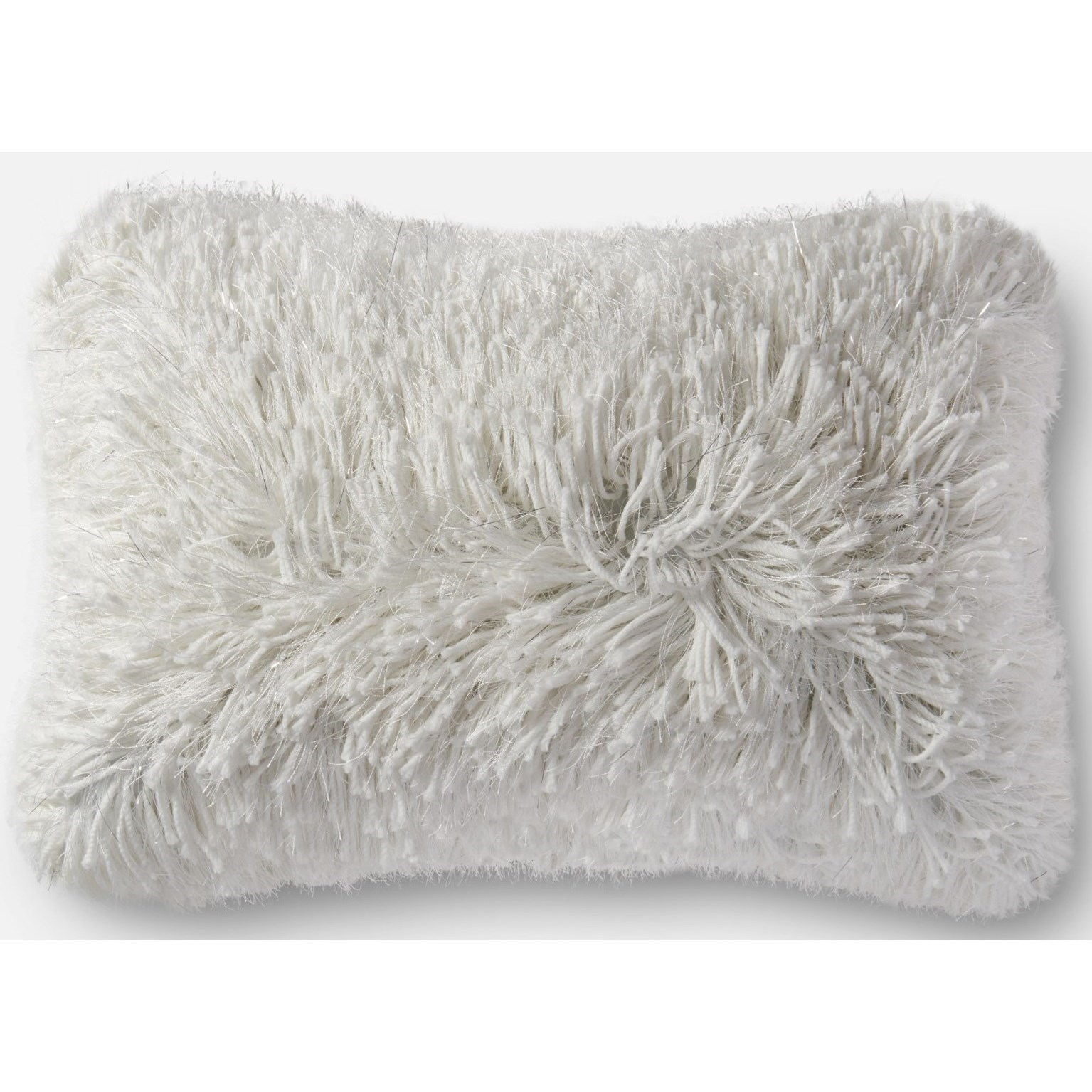 """Shag 13"""" X 21"""" Down Pillow by Loloi Rugs at Virginia Furniture Market"""
