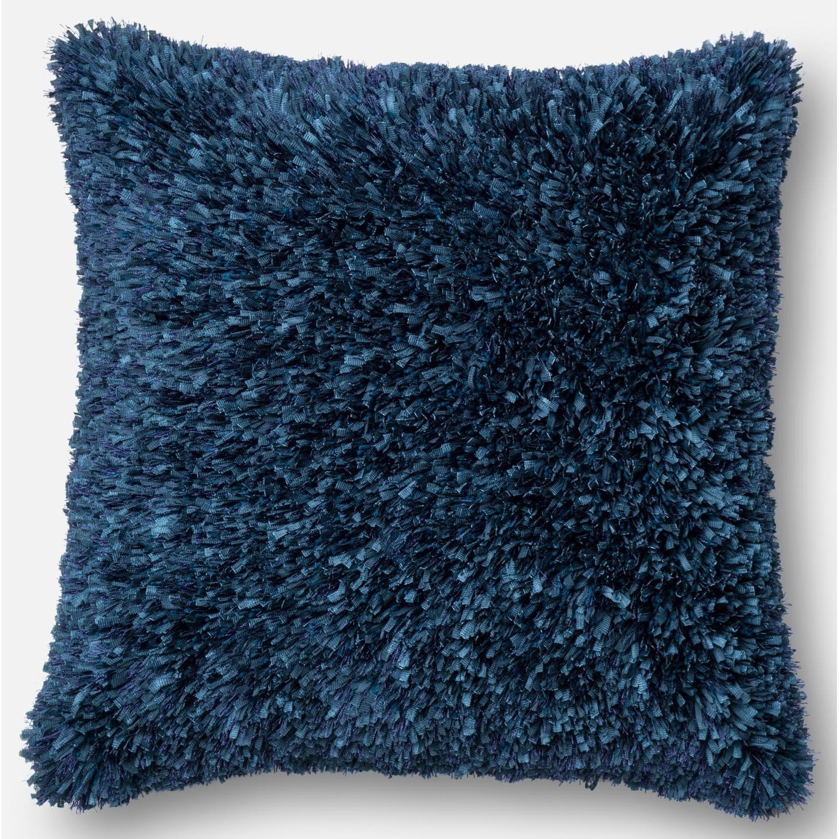 """Shag 22"""" X 22"""" Down Pillow by Loloi Rugs at Virginia Furniture Market"""