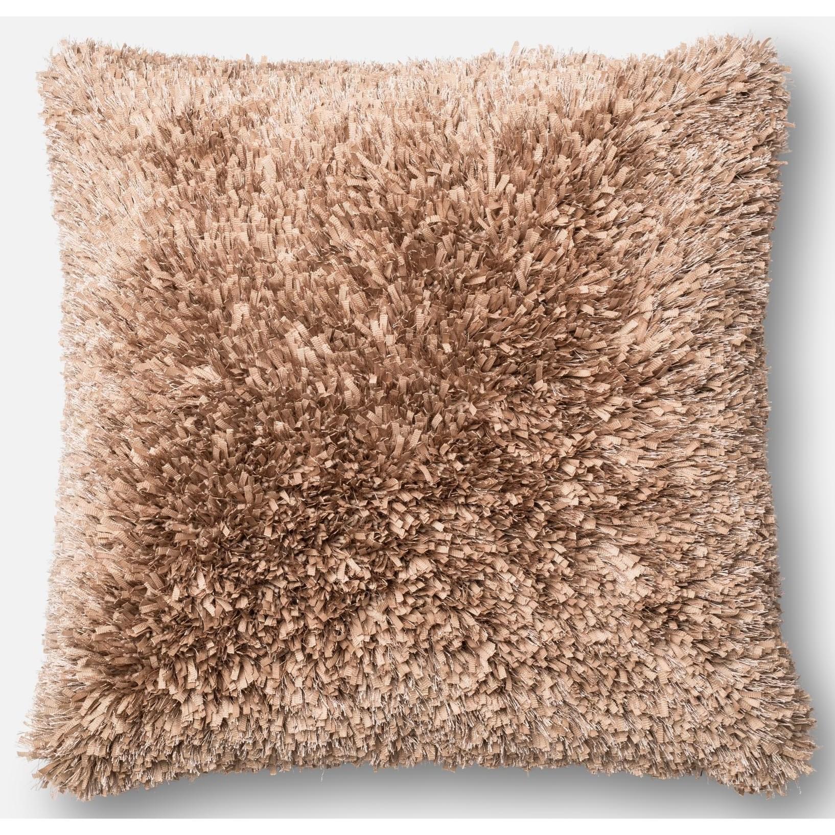 """Shag 22"""" X 22"""" Down Pillow by Loloi Rugs at Pedigo Furniture"""