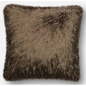 """Brown 22"""" X 22"""" Down Pillow"""