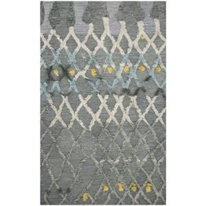 5-0 X 7-6 Grey/Multi Area Rug