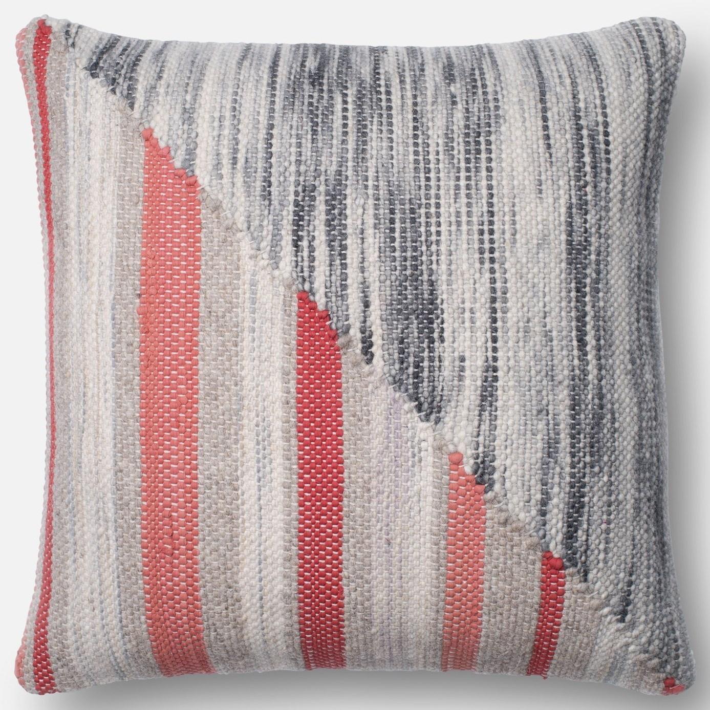 "Textured Art Silk 22"" X 22"" Down Pillow by Loloi Rugs at Pedigo Furniture"