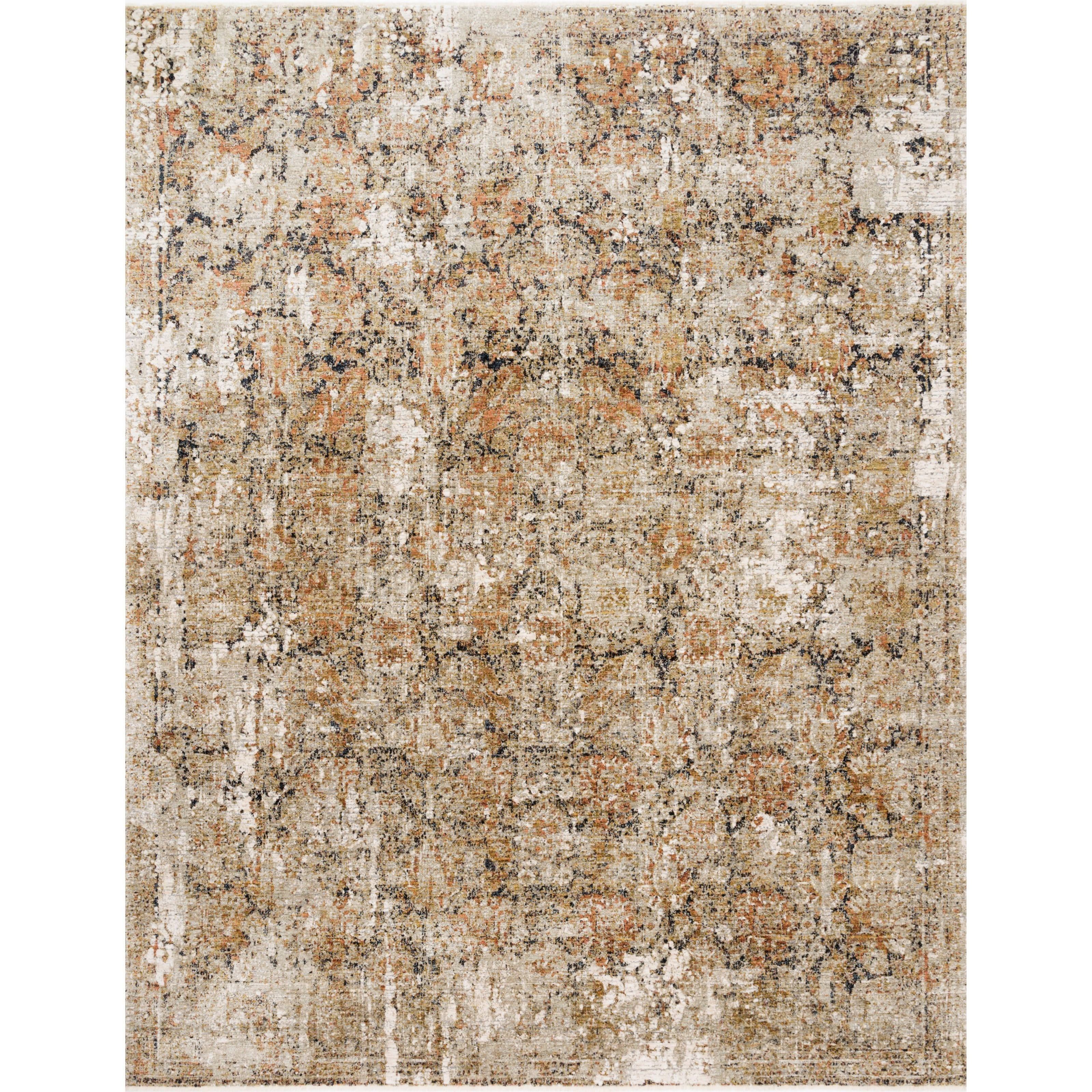 """Theia 6'7"""" x 9'6"""" Taupe / Gold Rug by Loloi Rugs at Virginia Furniture Market"""