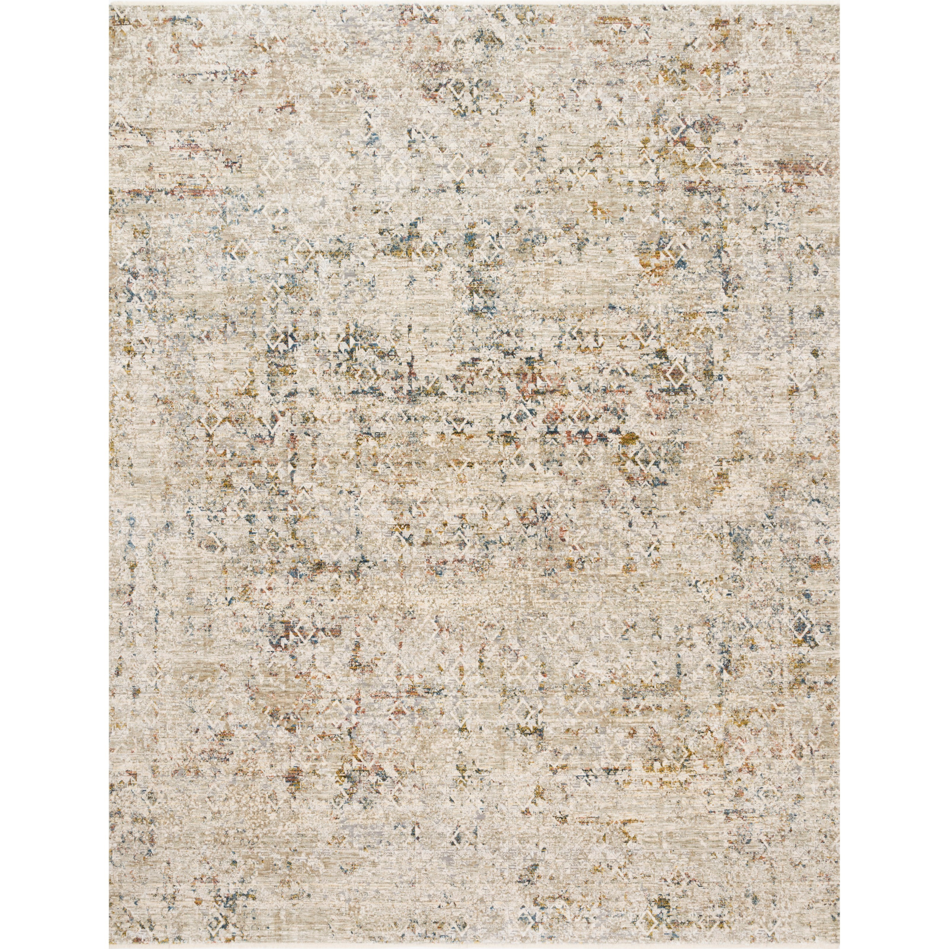 """Theia 6'7"""" x 9'6"""" Multi / Natural Rug by Loloi Rugs at Virginia Furniture Market"""