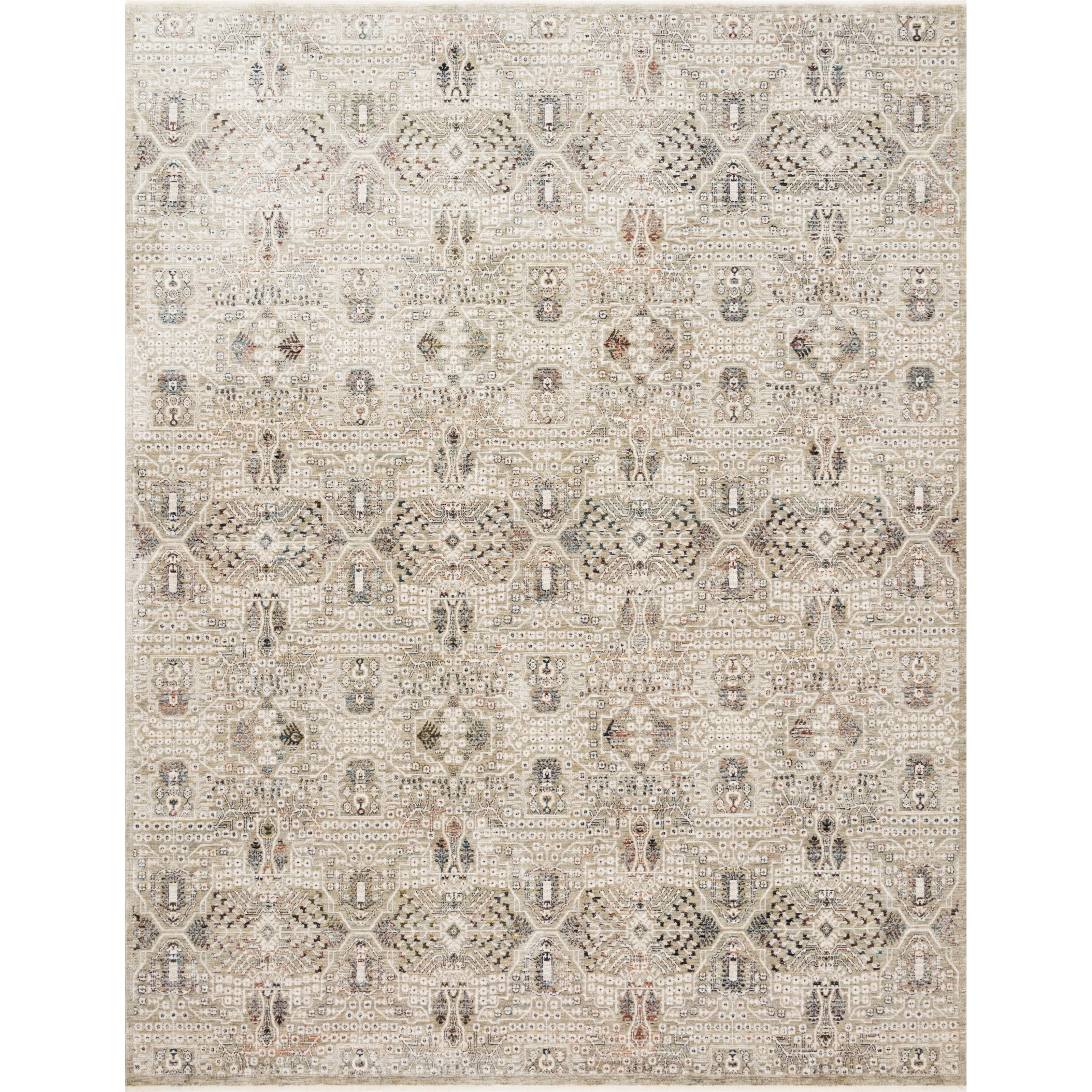 """Theia 7'10"""" x 7'10"""" Round Granite / Ivory Rug by Loloi Rugs at Virginia Furniture Market"""
