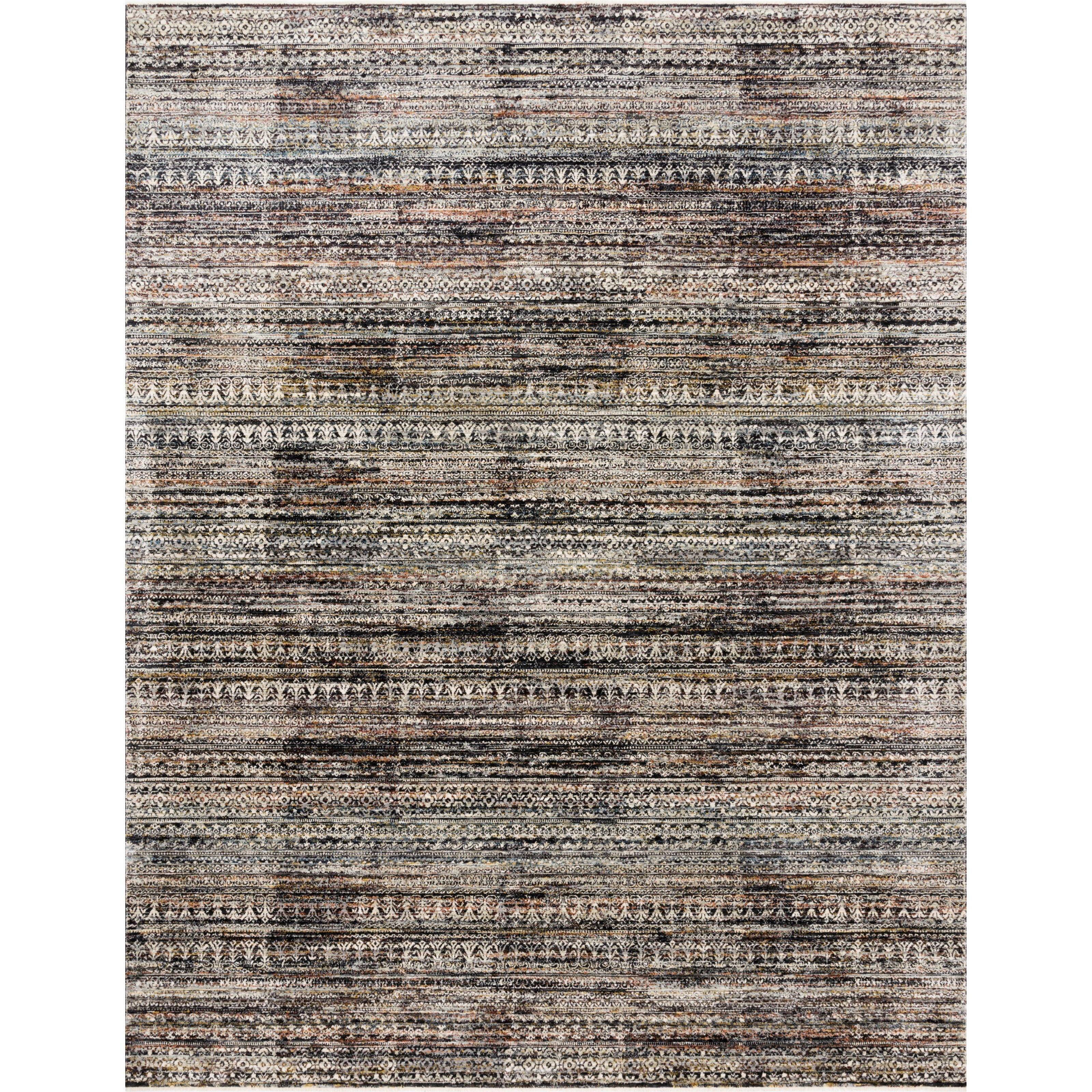 """Theia 2'10"""" x 10' Grey / Multi Rug by Loloi Rugs at Virginia Furniture Market"""