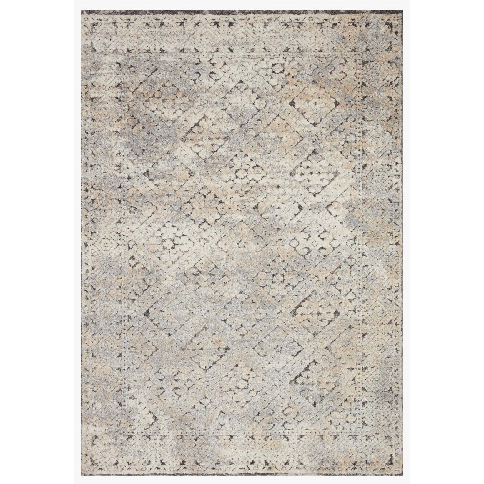 "Theory 2'7"" x 13' Grey / Sand Rug by Loloi Rugs at Virginia Furniture Market"