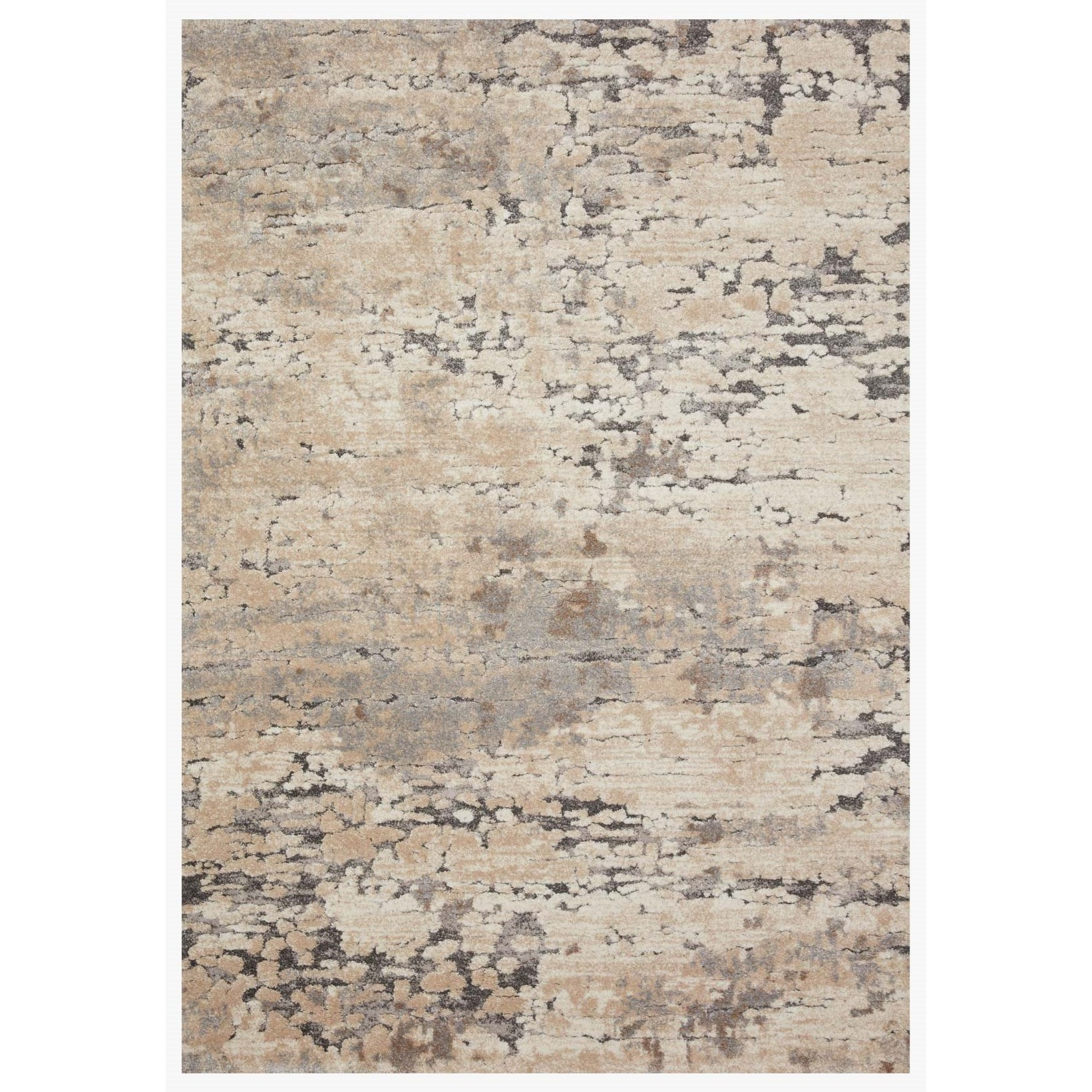 """Theory 2'7"""" x 10'10"""" Taupe / Grey Rug by Loloi Rugs at Virginia Furniture Market"""