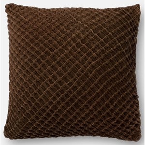 "Brown 22"" X 22"" Polyester Pillow"