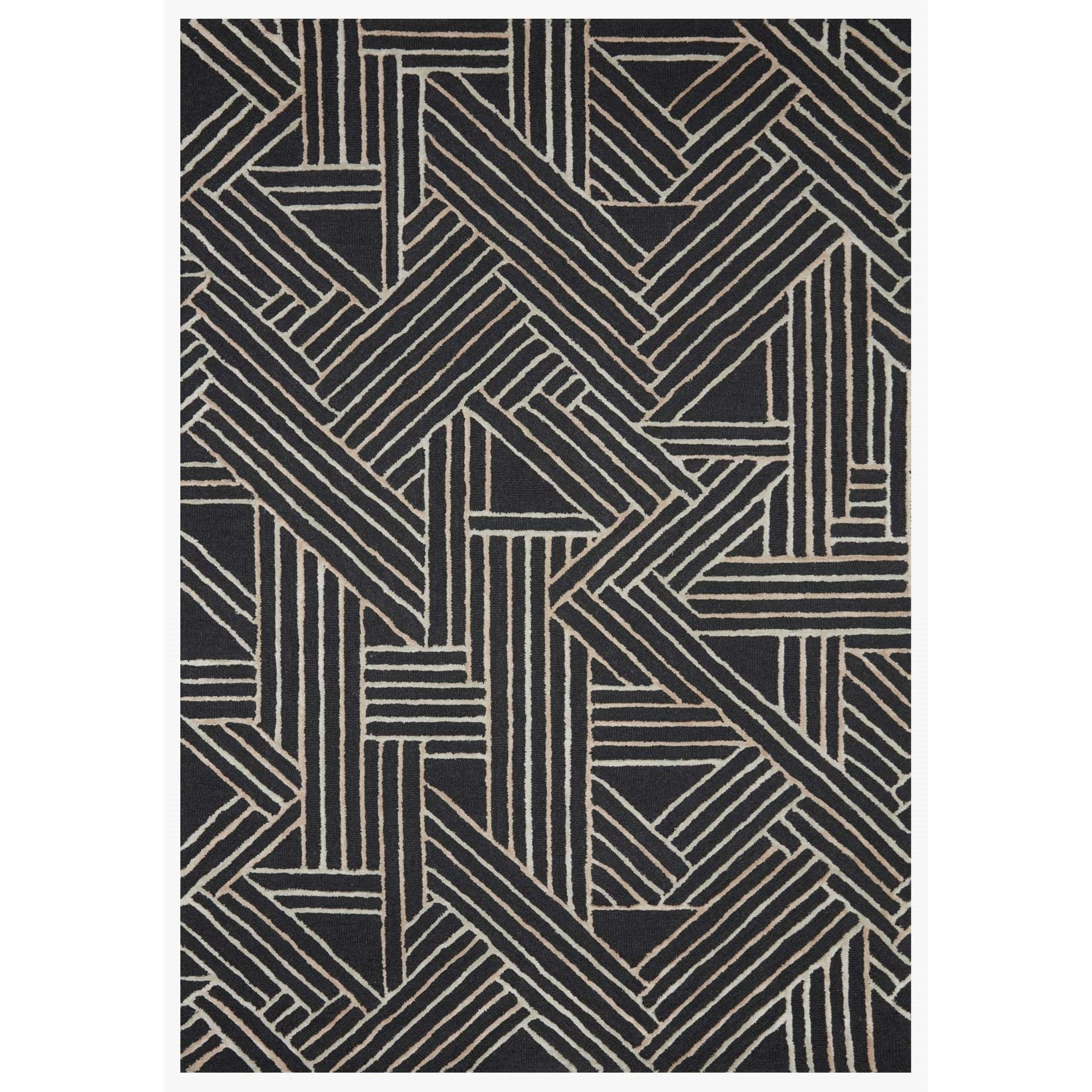 """Verve 5'0"""" x 7'6"""" Charcoal / Neutral Rug by Loloi Rugs at Virginia Furniture Market"""