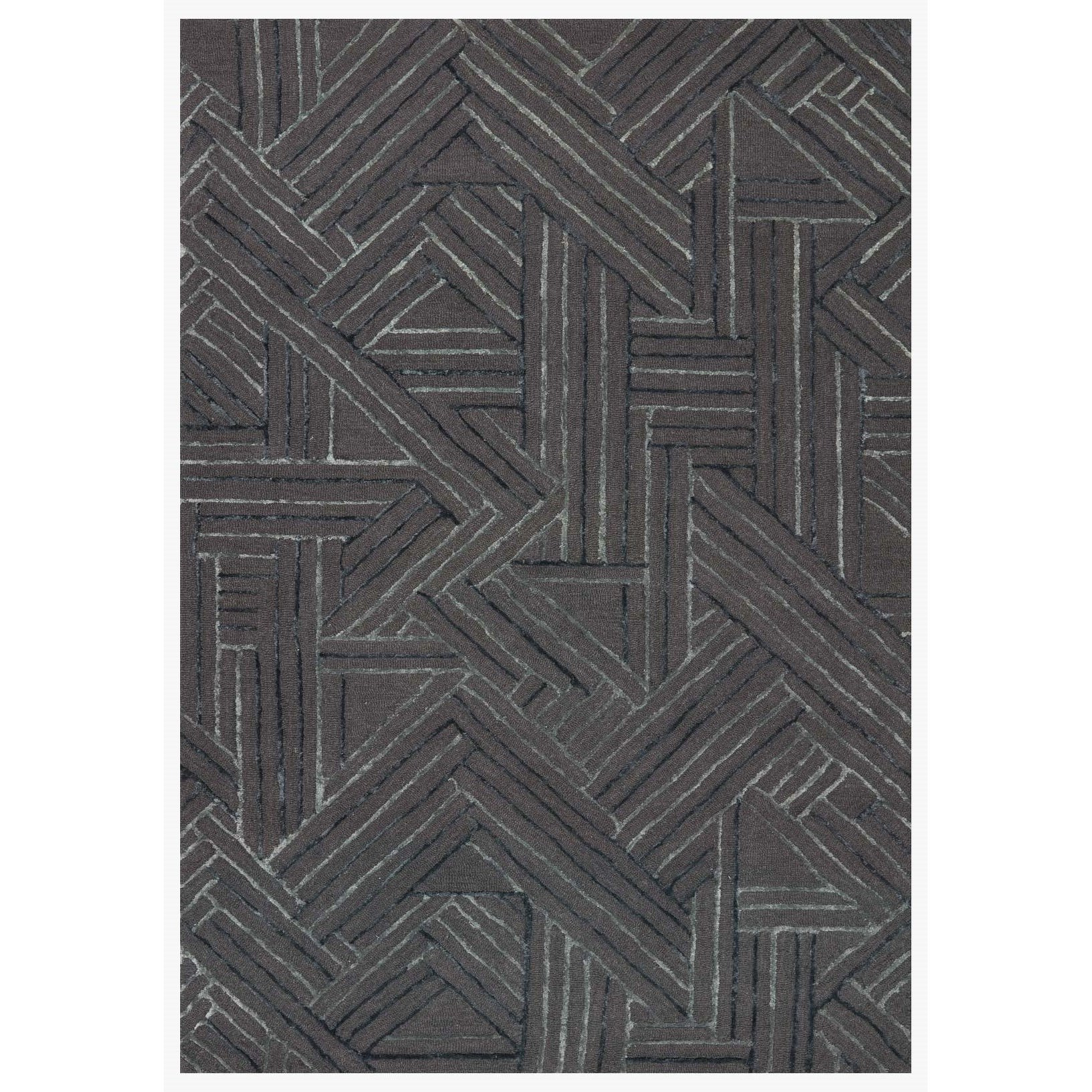 """Verve 18"""" x 18""""  Graphite / Ocean Rug by Loloi Rugs at Virginia Furniture Market"""