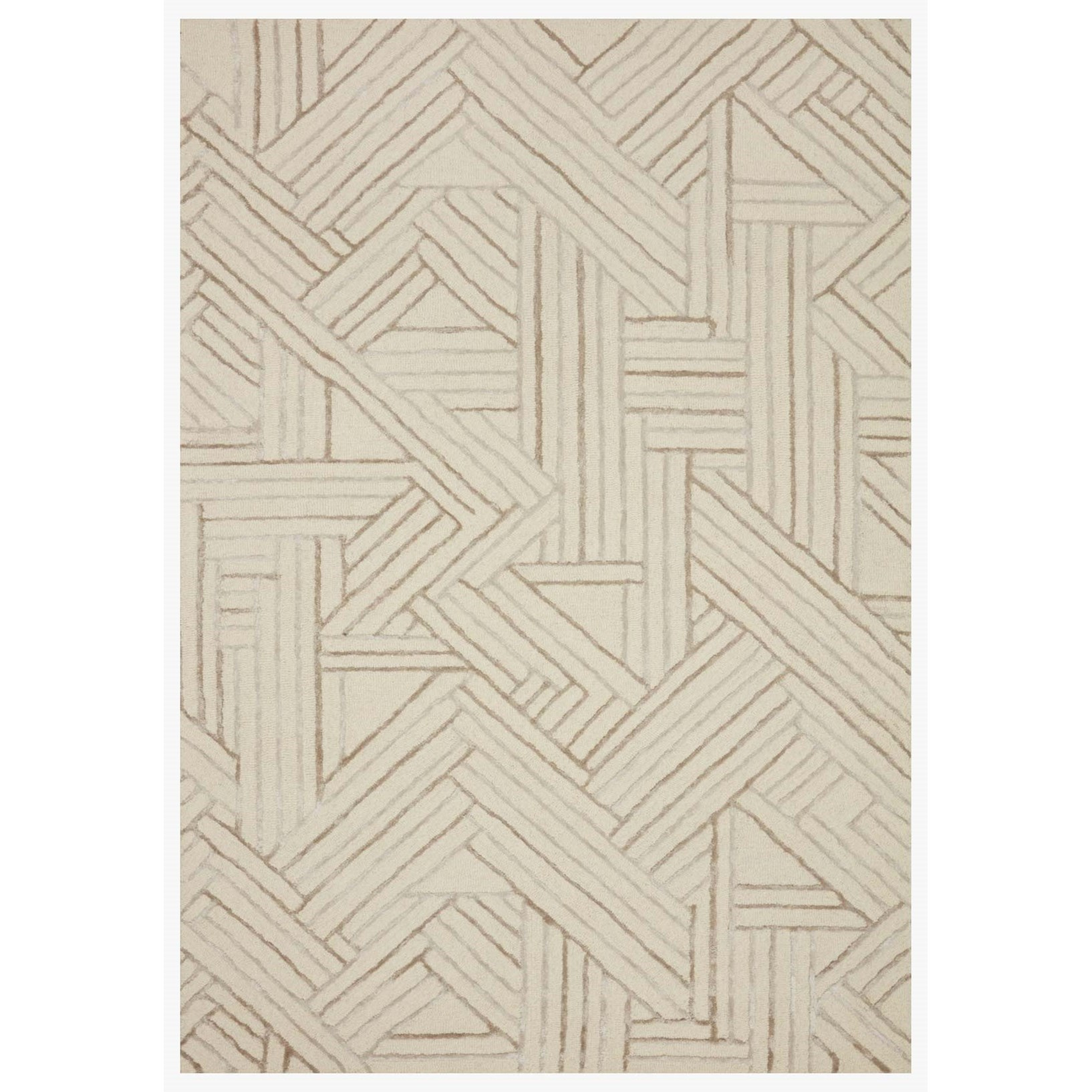 """Verve 2'3"""" x 3'9"""" Ivory / Oatmeal Rug by Loloi Rugs at Virginia Furniture Market"""
