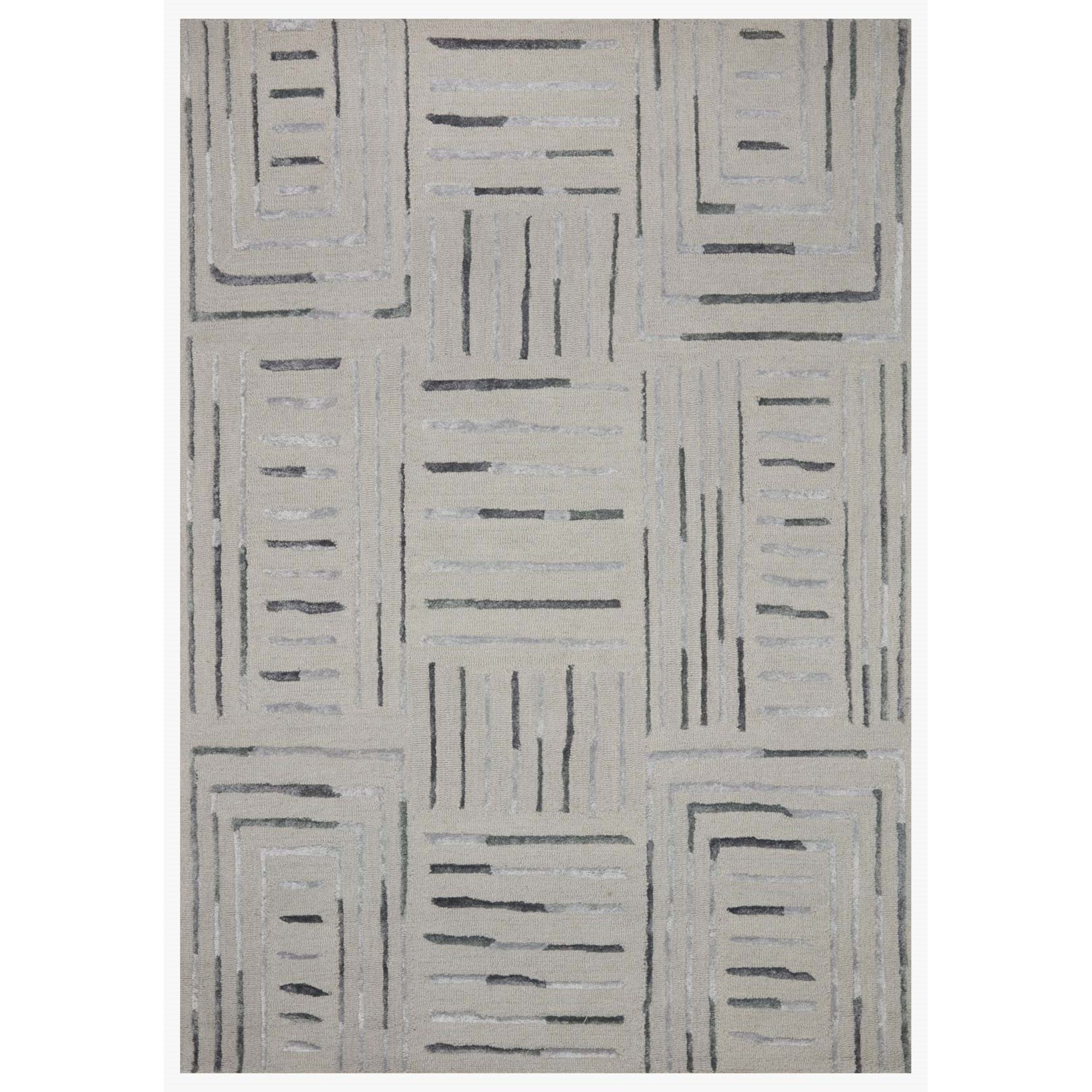 "Verve 5'0"" x 7'6"" Silver / Slate Rug by Loloi Rugs at Virginia Furniture Market"