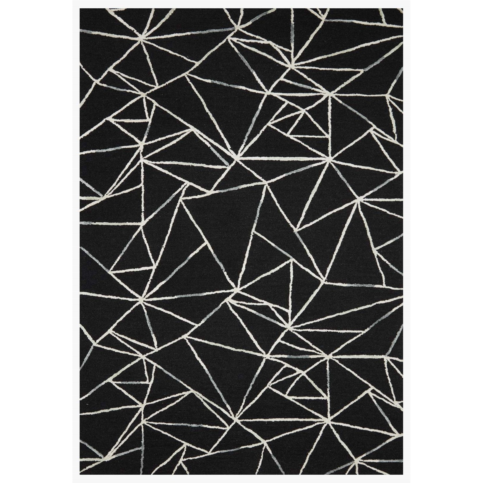 """Verve 2'3"""" x 3'9"""" Black / Ivory Rug by Loloi Rugs at Virginia Furniture Market"""