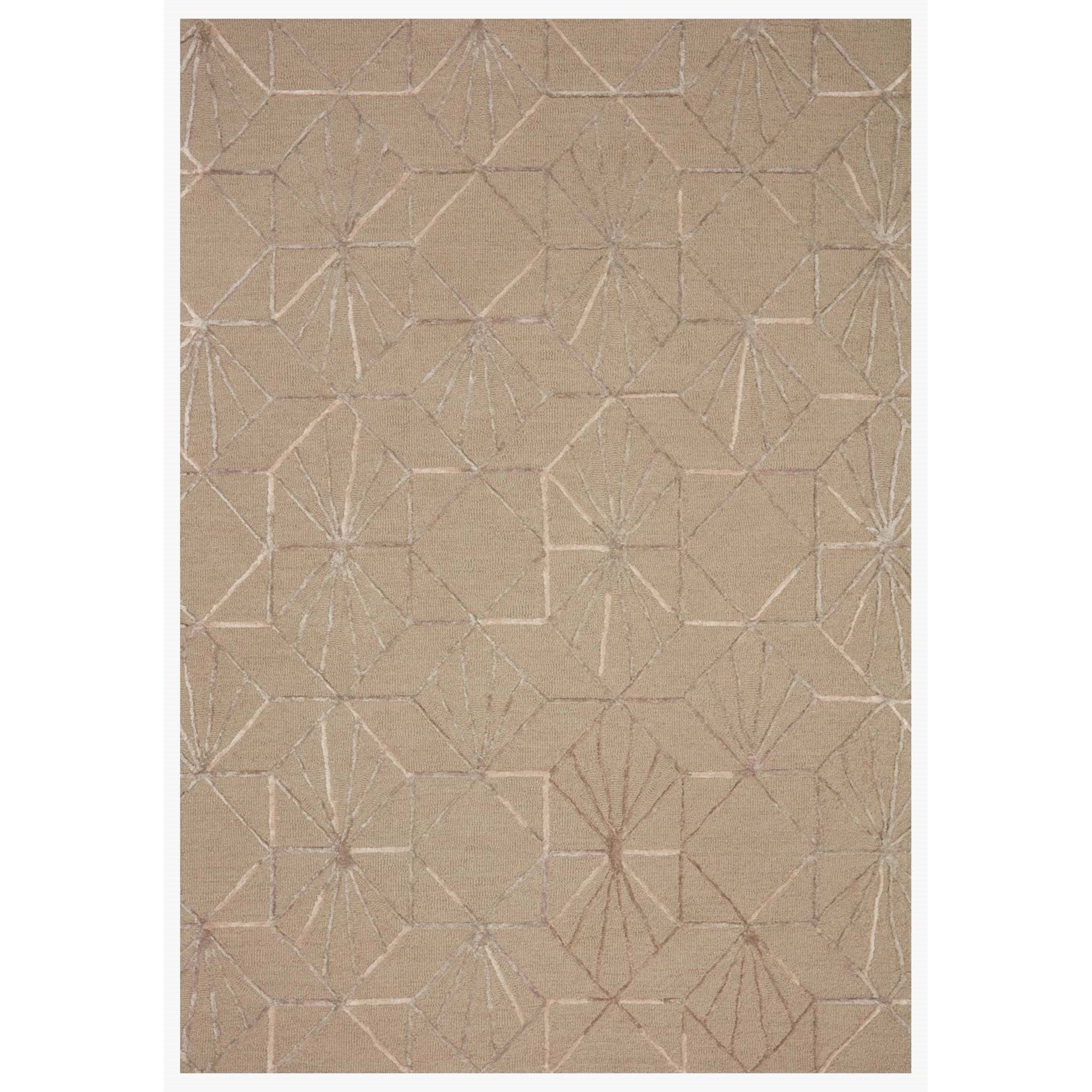 """Verve 5'0"""" x 7'6"""" Sand / Blush Rug by Loloi Rugs at Virginia Furniture Market"""