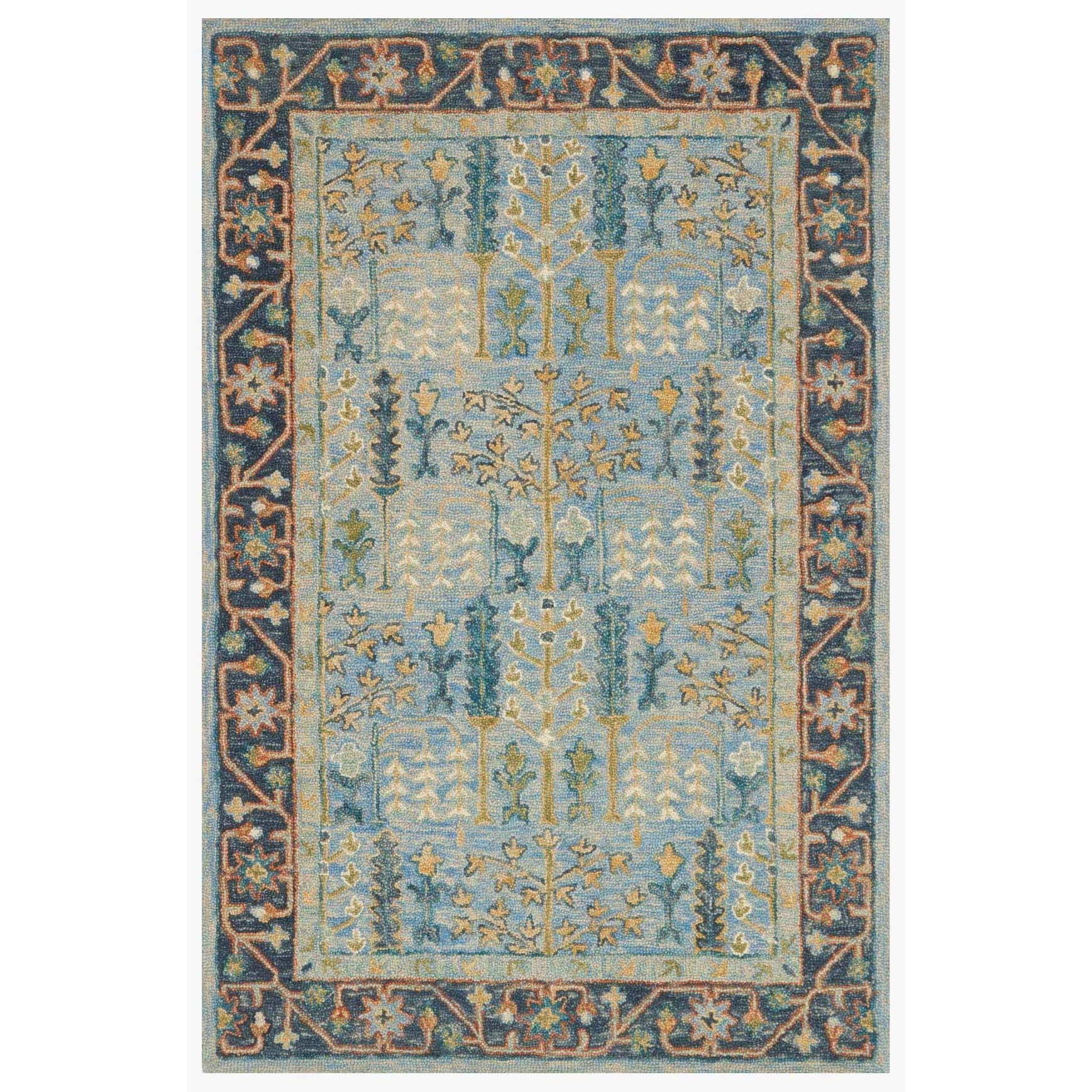 """Victoria 3'-6"""" x 5'-6"""" Area Rug by Loloi Rugs at Virginia Furniture Market"""