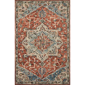 """5'0"""" x 7'6"""" Red / Multi Rug"""