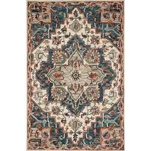 """9'3"""" x 13' Blue / Red Rug"""