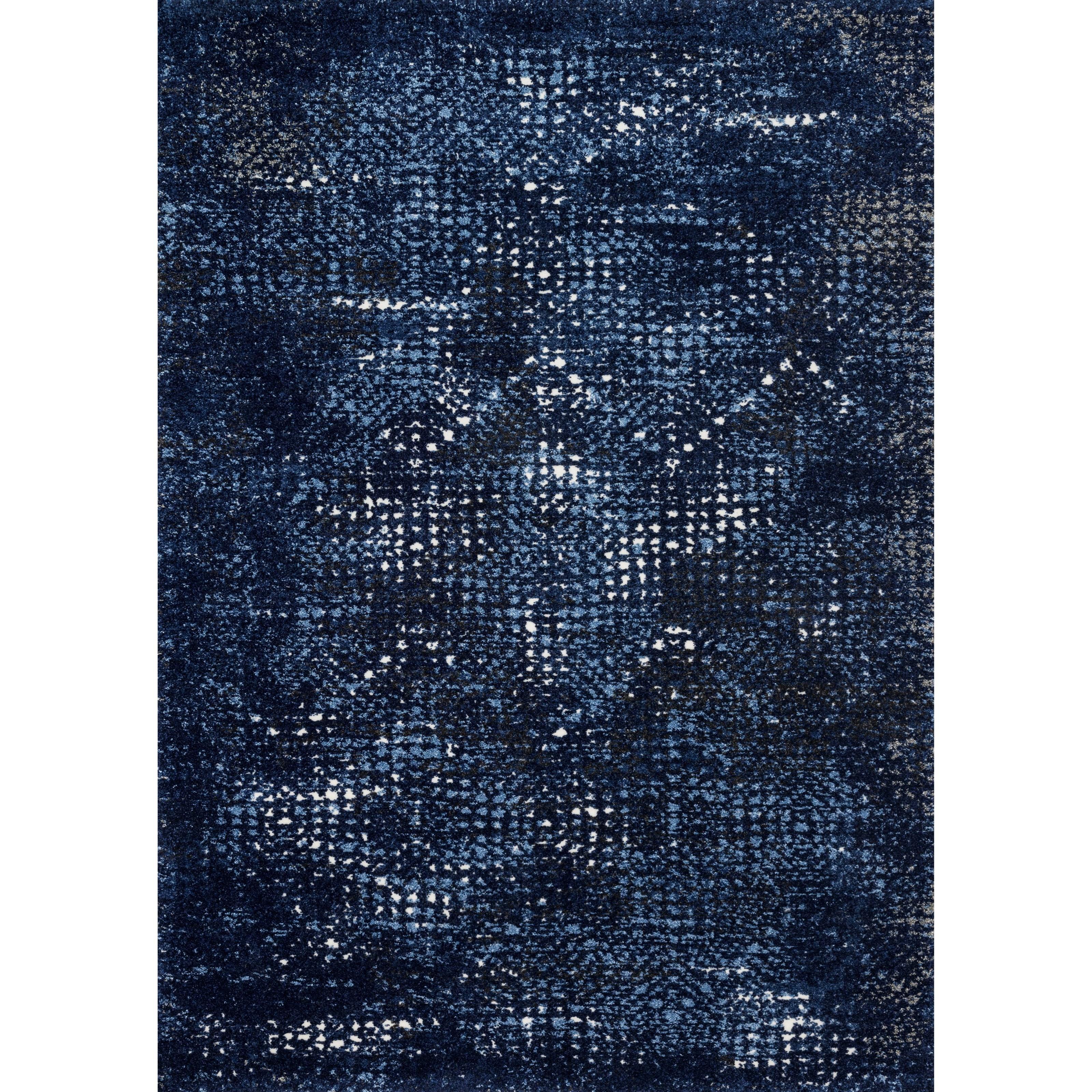 "Viera 1'6"" x 1'6""  Dark Blue / Light Blue Rug by Loloi Rugs at Virginia Furniture Market"