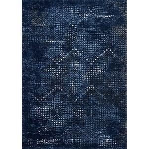 "2'-5"" X 7'-7"" Dark Blue / Light Blue Rug"