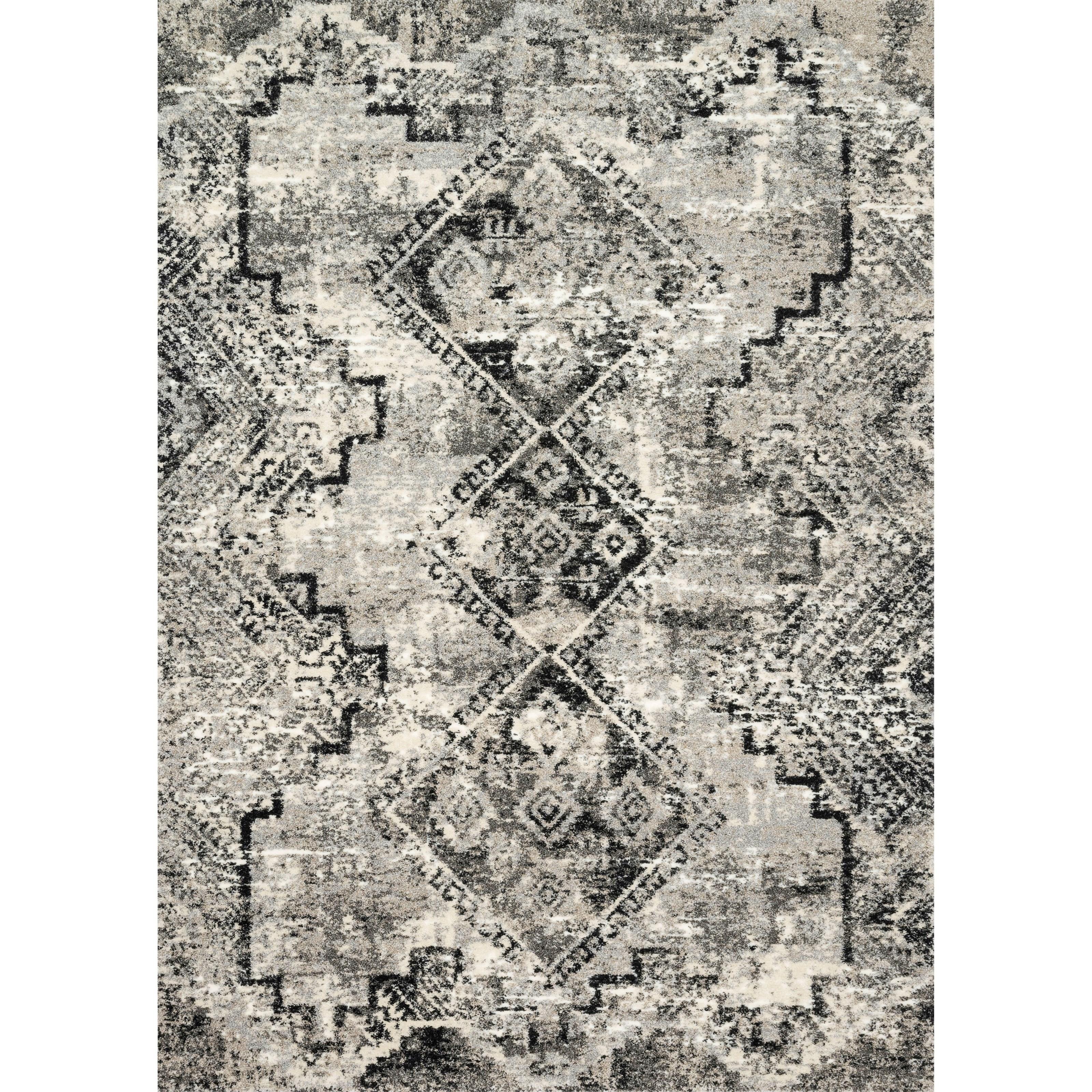 "Viera 1'6"" x 1'6""  Grey / Black Rug by Loloi Rugs at Sprintz Furniture"