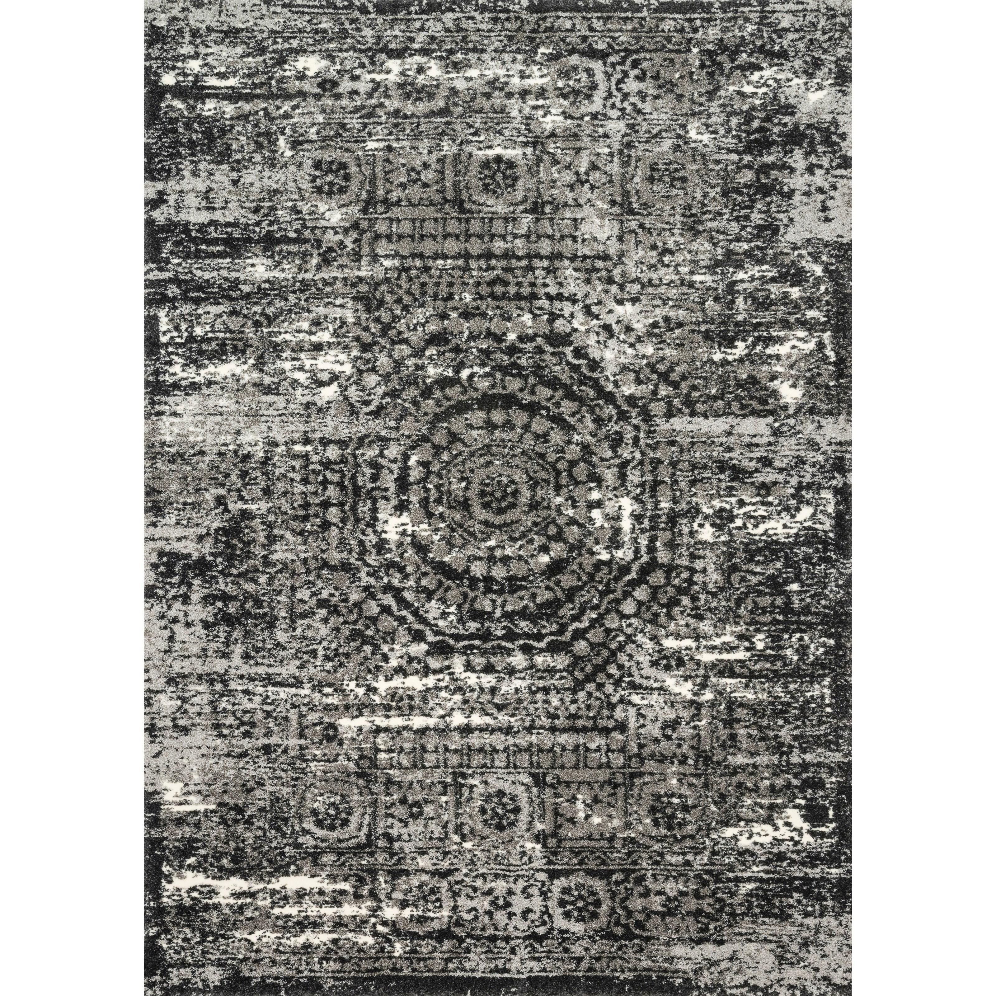 "Viera 8'11"" x 12'5"" Graphite / Black Rug by Loloi Rugs at Virginia Furniture Market"