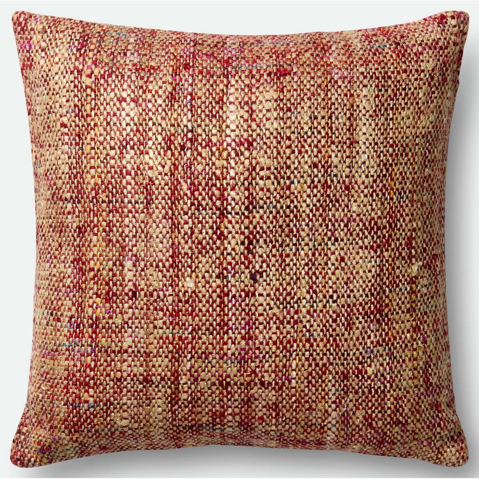"""Woven 22"""" X 22"""" Down Pillow by Loloi Rugs at Virginia Furniture Market"""