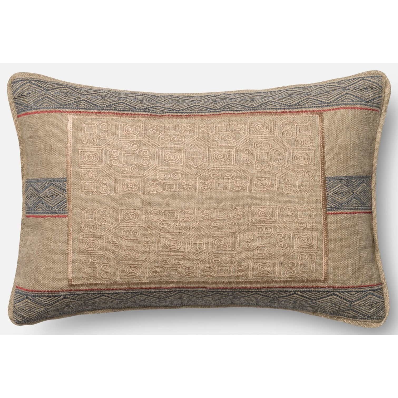 """Woven 13"""" X 21"""" Down Pillow by Loloi Rugs at Virginia Furniture Market"""