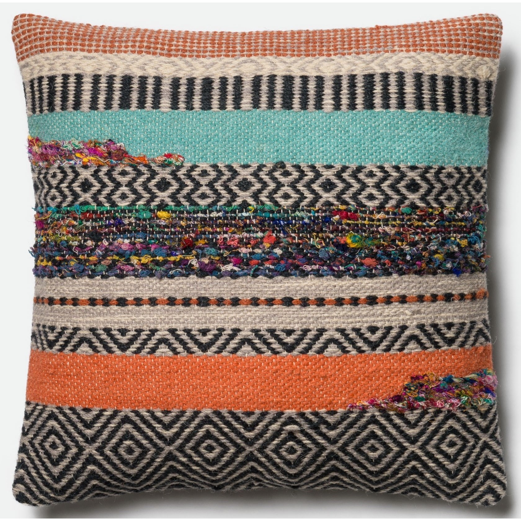 """Woven 22"""" X 22"""" Down Pillow by Loloi Rugs at Sprintz Furniture"""