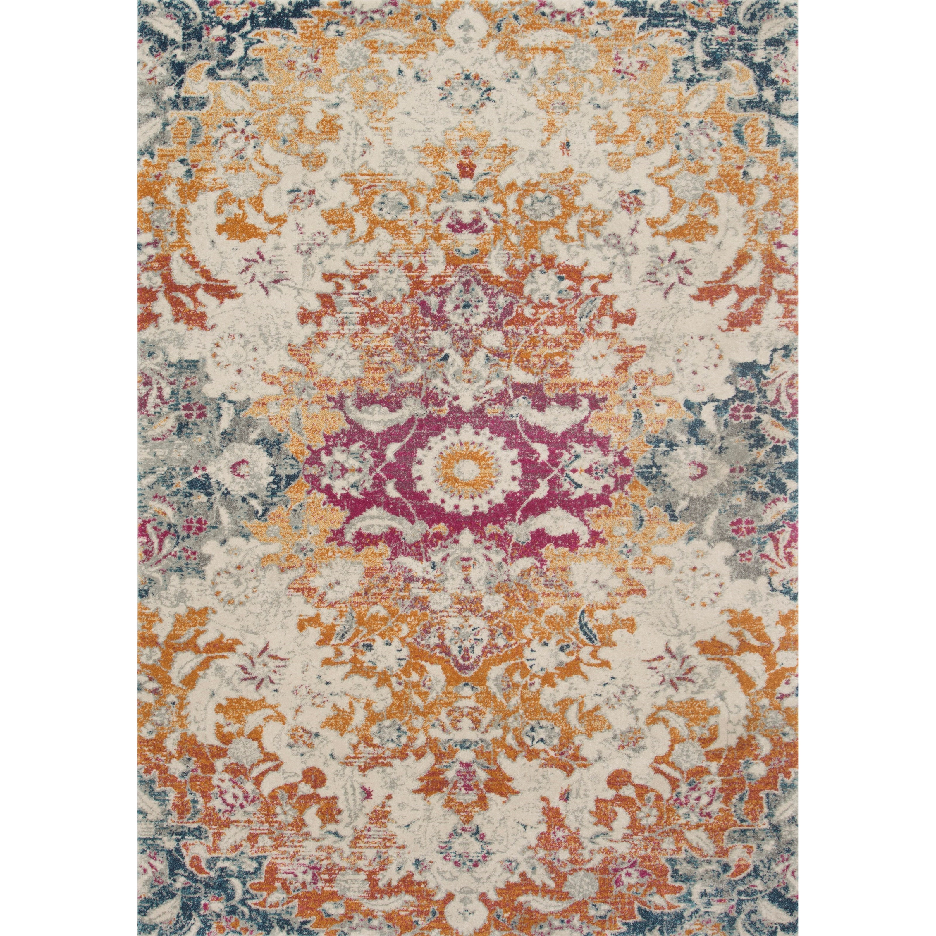"""Zehla 2'7"""" x 7'7"""" Ivory / Fiesta Rug by Loloi Rugs at Virginia Furniture Market"""