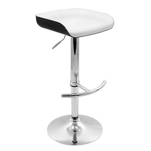 LumiSource Bar Tables and Stools  Sleek Barstool Black/White Seat