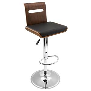 LumiSource Bar Tables and Stools  Viera Barstool Walnut