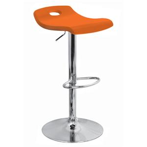 LumiSource Bar Tables and Stools  Surf Barstool Orange
