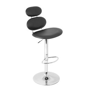 LumiSource Bar Tables and Stools  Segment Barstool Black