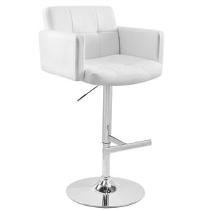 LumiSource Bar Tables and Stools  Stout Barstool White