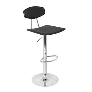LumiSource Bar Tables and Stools  Vector Barstool Black