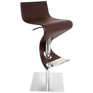 LumiSource Bar Tables and Stools  Viva Barstool Brown