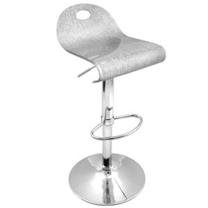 LumiSource Bar Tables and Stools  Silver Shimmer Barstool