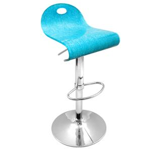 LumiSource Bar Tables and Stools  Turquoise Shimmer Barstool
