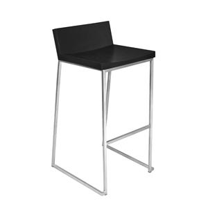 LumiSource Bar Tables and Stools  Black Zenn Barstool