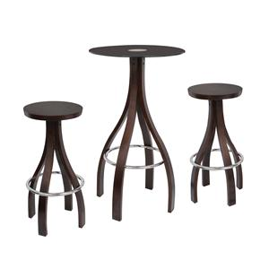 LumiSource Bar Tables and Stools  Champagne Bar Set Wenge