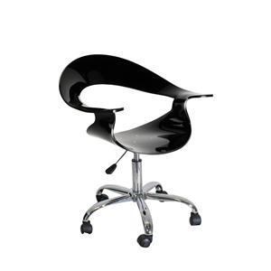 LumiSource Home Office Rumor Chair Black Acrylic