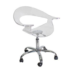 LumiSource Home Office Rumor Chair Clear Acrylic