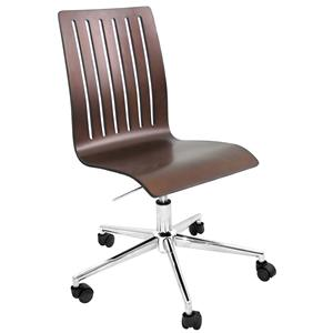 LumiSource Home Office Bentley Wenge Wood Office Chair