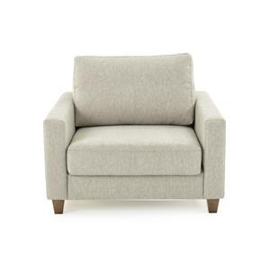 Contemporary Chair Sleeper Sofa with Twin Mattress