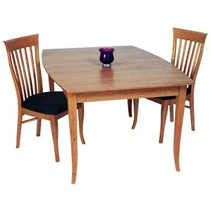 <b>Customizable</b> Boat Shaped Solid Top Table with Flared Legs