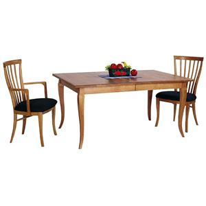 <b>Customizable</b> French Country Solid Top Table with Splayed Legs