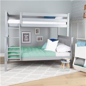 Gryffin Twin Over Full Bunk Bed - Grey