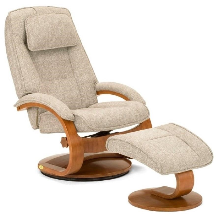 Brampton Swivel Reclining Chair and Ottoman by Mac Motion Chairs at Jacksonville Furniture Mart